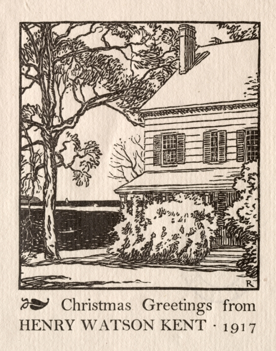 Christmas Card from Henry Watson Kent | Cleveland Museum of Art