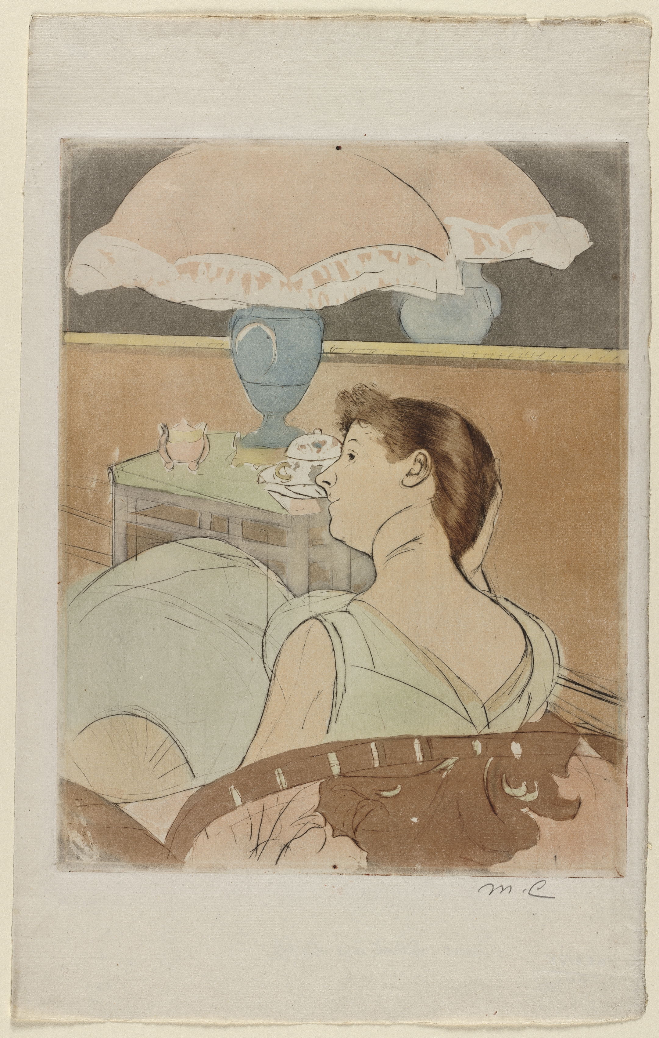 The Lamp by Mary Cassatt, from The Cleveland Museum of Art