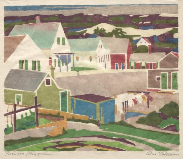 Provincetown Print by Ora Coltman